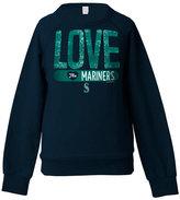 5th & Ocean Girls' Seattle Mariners Sequin Raglan Sweatshirt