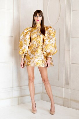 Gold Brocade Dress | Shop the world's largest collection of fashion |  ShopStyle