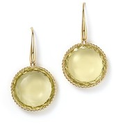 Roberto Coin 18K Yellow Gold Ipanema Round Earrings with Lemon Quartz