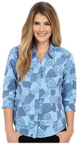 Royal Robbins Expedition Stretch 3/4 Sleeve Print Top