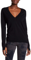 Zadig & Voltaire Rina V-Neck Pointelle Accent Sweater