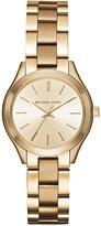Michael Kors Women's Mini Slim Runway Gold-Tone Stainless Steel Bracelet Watch 33mm MK3512