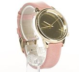 Komono Women's 'Estelle' Quartz Stainless Steel and Leather Dress Watch, Color:Pink (Model: KOM-W2870)