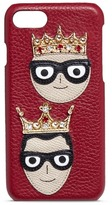 Dolce & Gabbana Crown family patch leather iPhone 7 case