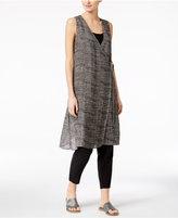 Eileen Fisher Organic Linen-Blend Long Wrap Top