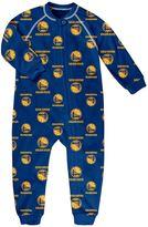 adidas Toddler Golden State Warriors Logo Footed Pajamas