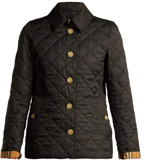 Burberry Diamond Quilted Jacket - Womens - Black