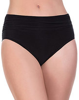 Magicsuit Solid Shirred Jersey Brief Bottom