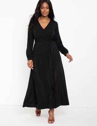 ELOQUII Wrap Maxi Dress