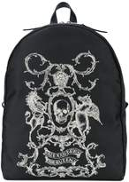 Alexander McQueen skull coat of arms backpack