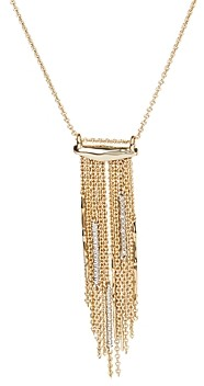 Alexis Bittar Spiked Fringe Pendant Long Necklace, 32
