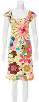 Dolce & Gabbana Sleeveless Floral Print Dress