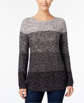 Style&Co. Style & Co. Colorblocked Marled Sweater, Only at Macy's
