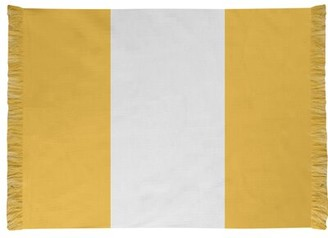 NHS National Hockey Stripes Gold Area Rug East Urban Home Non-Skid Pad: Yes