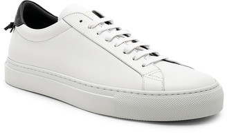 Givenchy Leather Low Sneakers in White & Black | FWRD