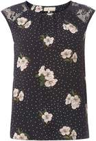 **Billie & Blossom Navy Floral Print Shell Top