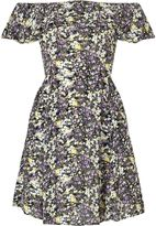 Miss Selfridge Petite Printed Bardot Dress