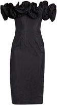 Brock Collection Desree off-the-shoulder ruffled taffeta dress