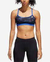 adidas Printed Strappy-Back Light-Support Sports Bra