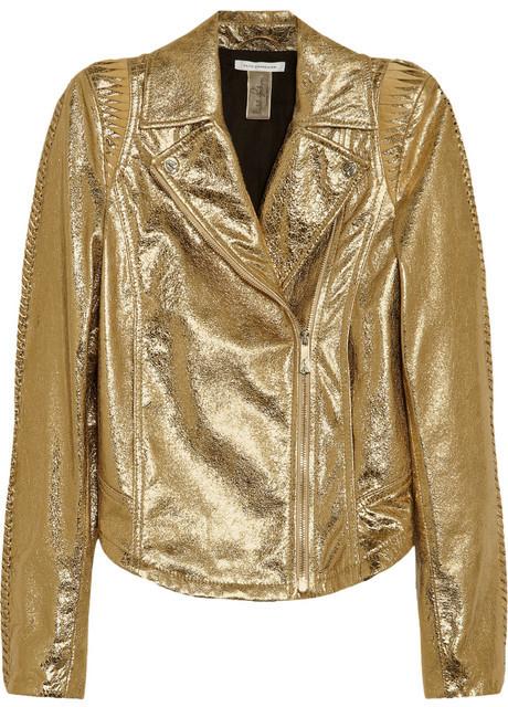 Faith Connexion + Isabeli Fontana Textured-leather biker jacket