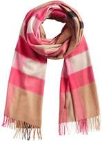 Burberry cashmere oversize check scarf