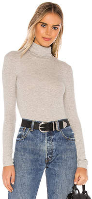 ATM Anthony Thomas Melillo Micro Modal Rib Turtleneck Top