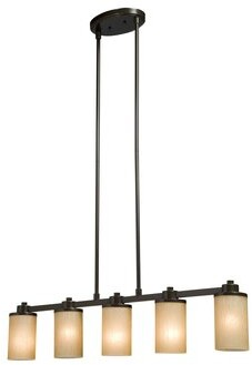Red Barrel Studio Amal Contemporary 5-Light Kitchen Island Pendant Red Barrel Studio