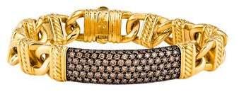 David Yurman 22K Diamond ID Bracelet