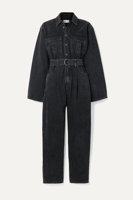 A Gold E Agolde AGOLDE - Tatum Belted Denim Jumpsuit - Black