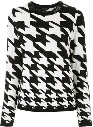 Escada Houndstooth Fitted Jumper