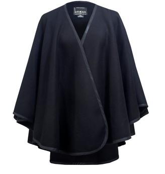 Keegan Shade Cape In Black Wool Blend
