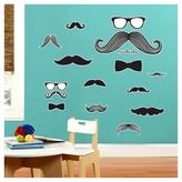 BuySeasons Mustache Giant Wall Decal