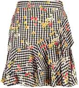 Miss Selfridge GING RUFFLE Mini skirt multi bright
