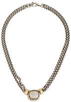 David Yurman Diamond Double Wheat Chain Necklace
