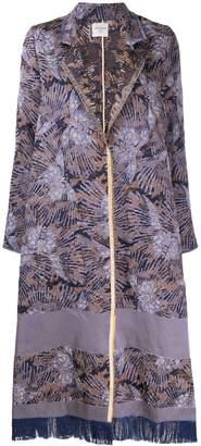Forte Forte flared jacquard coat