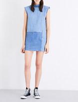 Ksubi Frayed-edge denim shift dress