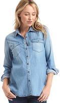 Gap Maternity Tencel® western shirt