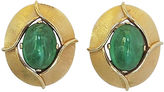 One Kings Lane Vintage 1960s Trifari Givré Cabochon Earrings
