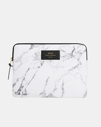 Wouf iPad Sleeve White Marble