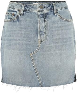 GRLFRND Blaire high-waisted denim miniskirt