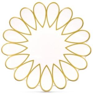 Coton Colors by Laura Johnson Scallop-Edge Gold Salad Plate