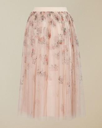 Ted Baker Bouquet Print Tulle Skirt