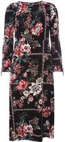 Dorothy Perkins Black Floral Print Midi Skater Dress