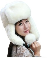 Yimidear Women Winter Snow Hat Ear Face Warm Cap Outdoor Trapper hat