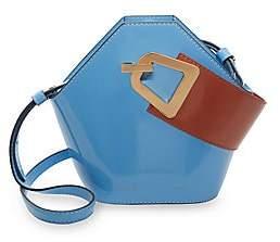 Danse Lente Women's Mini Johnny Geometric Patent Leather Bucket Bag