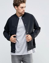 Lee Sweat Bomber Jacket Bonded Black