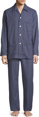 Derek Rose Men's Braemar 32 Check Cotton Pajamas
