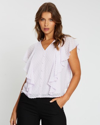 Atmos & Here Helena Frill Detail Top