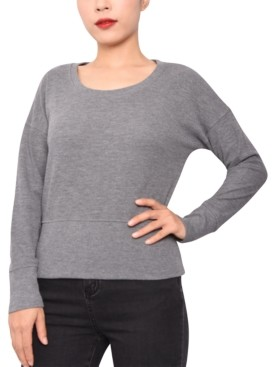 Derek Heart Juniors' Thermal-Knit Dolman Top