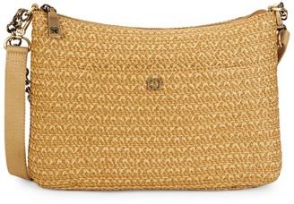 Eric Javits Powchky Woven Straw Crossbody Bag
